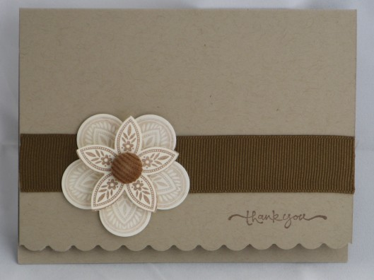 Simple Stampin' up thank you
