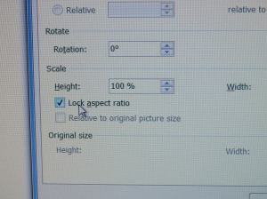 lock aspect ratio