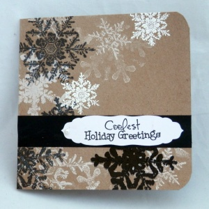 black snowflake card