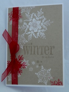 red snowflake card