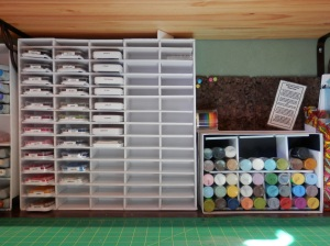 Filled ink pad storage